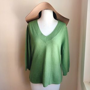 Just Cashmere by Forte Sage Green Sweater